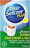 Alka-Seltzer Plus Night Severe Cold, Cough & Flu, 6 Packets