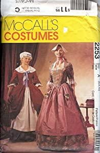 McCalls 2253 Costume Pattern Colonial Gowns