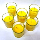 Waxations Citronella Votive Candles 15 Hour Burn Time Set of 6