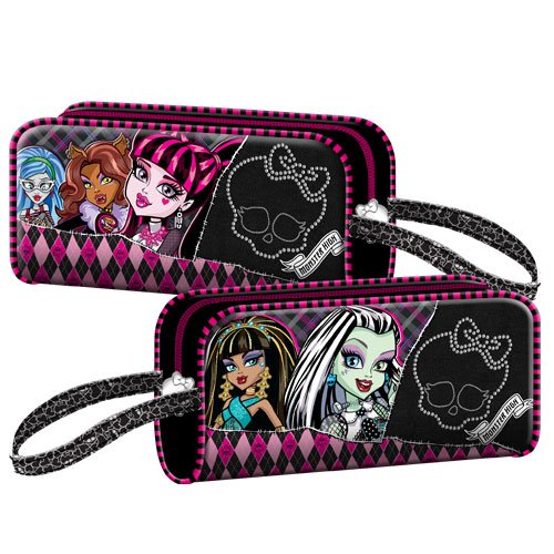 Exclusiv* Monster High Federtasche Monster High Kosmetiktasche Draculaura EDEL Leder Look 2013
