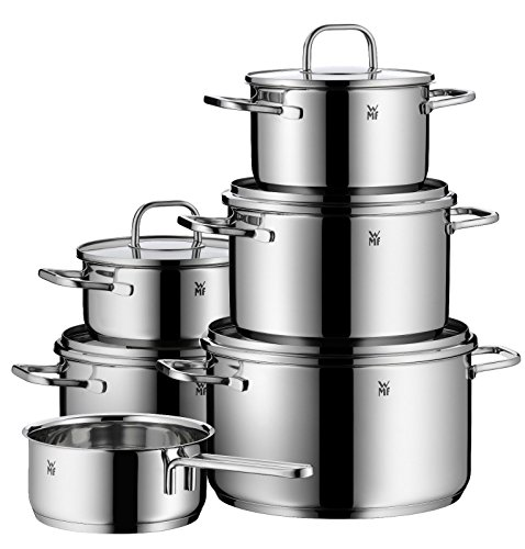 WMF Inspiration 11-Piece Cookware Set, Silver (Wmf Set compare prices)