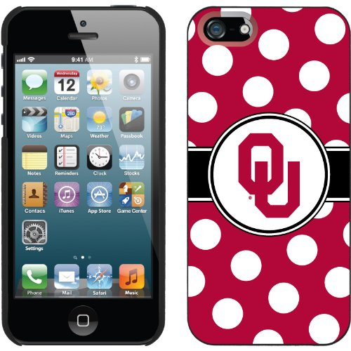 Special Sale Oklahoma Polka Dots design on a Black iPhone 5s / 5 Thinshield Snap-On Case by Coveroo