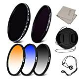 58MM GC-Gray + Blue + Orange + Fader ND+ Soft Focus Filter+ Lens Cap+ Cap keeper leash+ lens cleaning cloth