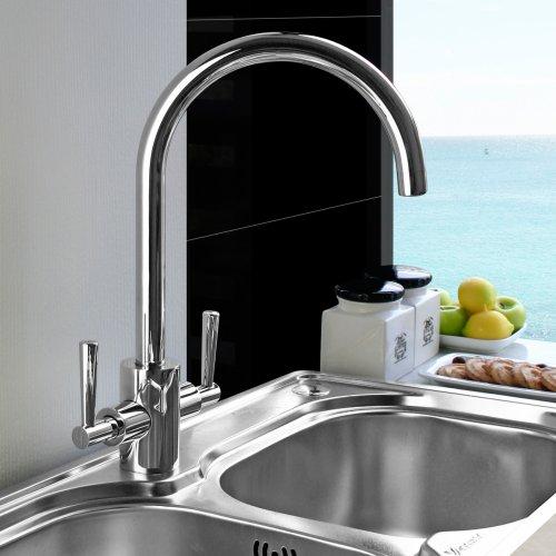 Paris Chrome Plated Kitchen Sink Mixer Tap