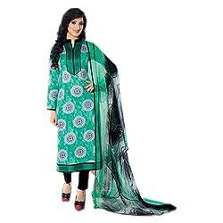 Paridhan Women's Cotton Unstitched Suit (SRPR 16103A_Seagreen_Free Size)
