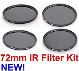 NEEWER® 72MM Infrared IR Filter Set - IR720 + IR760 + IR850 + IR950 - for ANY Digital SLR Camera with a 72MM Diameter Filter Thread!