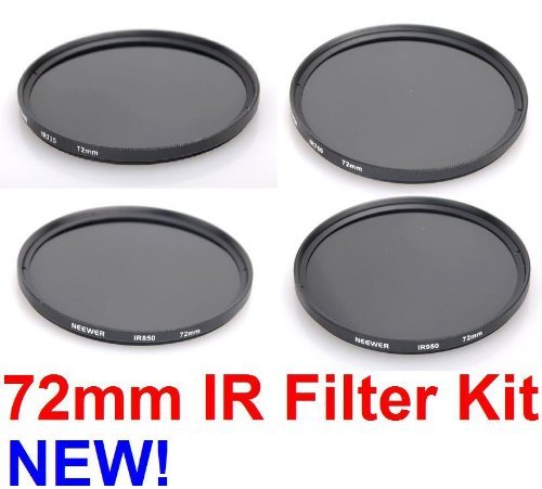 NEEWER® 72MM Infrared Lens Filter Kit - for ANY DSLR / SLR Camera with a 72MM Filter Thread!