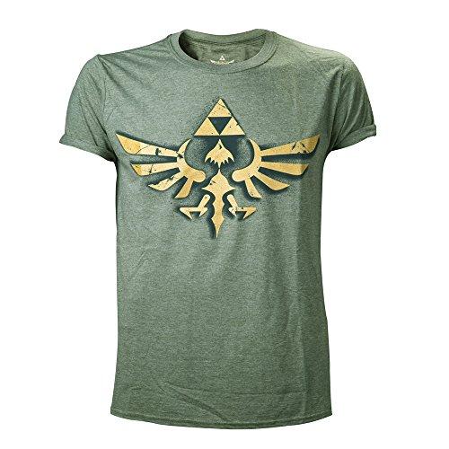 Nintendo - NINTENDO - VINTAGE ZELDA, T-Shirt uomo, Grün - Grün, Medium