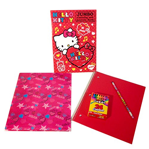 Writing & Hello Kitty Coloring Bundle 5 Items School Supplies