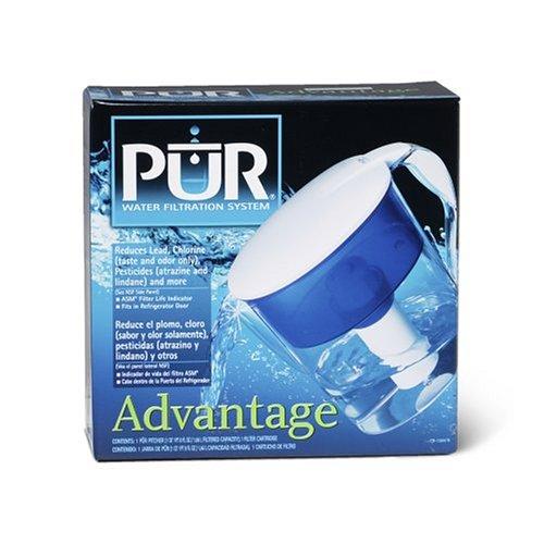 PUR Advantage Pitcher with Bonus Sport Water Bottle