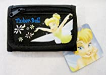 Tinkerbell Black Tri-Fold Wallet with Coin Pocket
