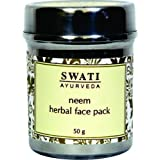 Swati Ayurveda Neem Herbal Face Pack (Paraben Free) 50 Gm