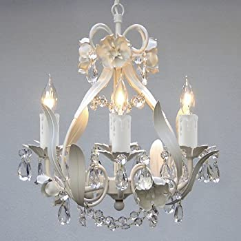 Lighting, This Elegant Mini Crystal Chandelier Adds Vintage Charm. The Fixture Has 4 Lights & Crystals Making This Antique Looking Ceiling Lamp a Stunning Addition. Bathrooms, Master Bedroom or a Little Girls Ceiling Lighting Never Looked Better!