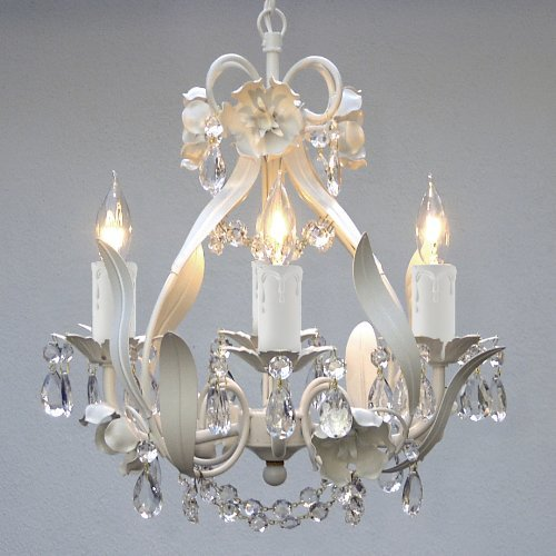 Lighting, This Elegant Mini Crystal Chandelier Adds Vintage Charm. The Fixture Has 4 Lights & Crystals Making This Antique Looking Ceiling Lamp a Stunning Addition. Bathrooms, Master Bedroom or a Little Girls Ceiling Lighting Never Looked Better! 0