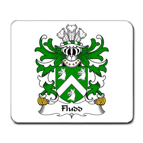 Fludd Thomas Of Kent Family Of Welsh Origin Family Crest Coat Of Arms Mouse Pad front-349718