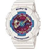 G-Shock Women's BA112 White w/ Multicolor Dial Watch