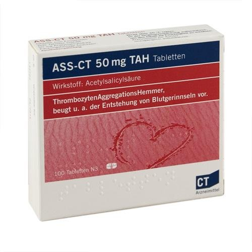 ASS-CT 50 mg TAH Tabletten 100ST Apotheke discountapo X
