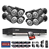 Annke 8CH 1080N Security DVR with 8x 1.3MP CCTV Cameras and 1TB Hard Drive