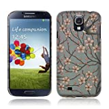 TaylorHe Birds and Branches Vintage Texture Samsung Galaxy S4 i9500 Hard Case Colourful with Patterns Full Body Printed Made in Great Britain Top Quality