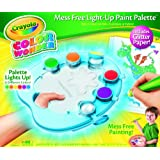 Crayola Color Wonder Light-Up Paint Palette with Glitter Paper