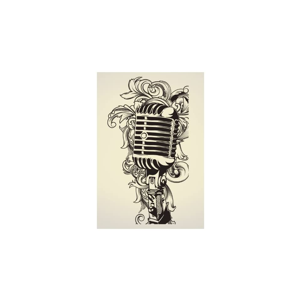 Vinyl Wall Art Decal Sticker Urban Style Microphone Mic 8ft #328