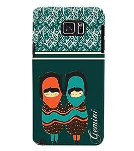 Fuson 3D Printed Sunsign Gemini Designer back case cover for Samsung Galaxy Note 5 - D4405