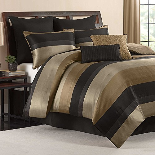 hudson elegant luxury striped quilted patchwork jacquard bed