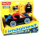 Fisher-Price Imaginext Dc Super Friends Batmobile With Lights - For Lots Of Bat-Tastic Adventures! Toy / Game / Play / Child / Kid