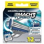 Gillette MACH3 Turbo Klingen 12 St�ck