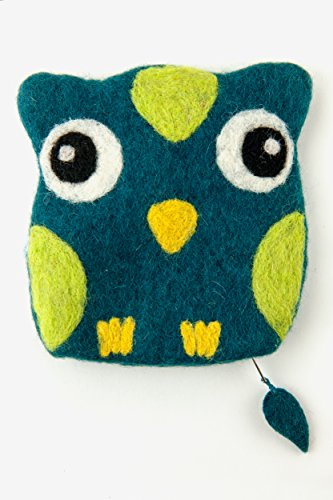 Frabjous Fibers Baby Owl Needlecase and Notions Bag (Brown) (Teal)