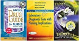 Daviss Drug Guide for Nurses + Daviss Comprehensive Handbook of Laboratory and Diagnostic Tests with Nursing Implications (4th Ed.), and Tabers Cyclopedic Medical Dictionary Package