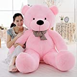 VERCART 4 Foot 47 inch Pink Giant Huge Cuddly Stuffed Animals Plush Teddy Bear Toy Doll (Color: Pink, Tamaño: 47