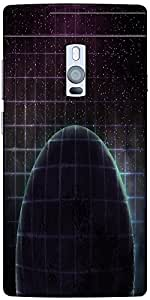 Snoogg dark planet space background Hard Back Case Cover Shield For Oneplus Two