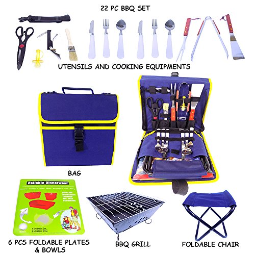 Barbecue Grilling Set  22 Pieces including Grill