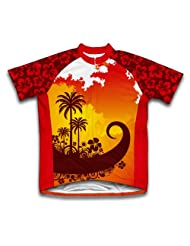 Tropical Sunset Short Sleeve Cycling Jersey for Women