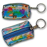 3D Lenticular Key Chain, Key Ring, Lipstick Case, Coin Purse, Changing Image Pattern , Rainbow Changing Butterflies, R-055-Globi