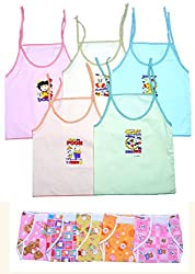 Sathiyas Baby Boys, Girls Jabla with Nappy (Pack of 10)