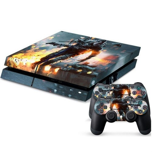 Mod-Freakz-PS4-Console-and-Controller-Vinyl-Skin-Decal-Fighter-in-Rain-Fire