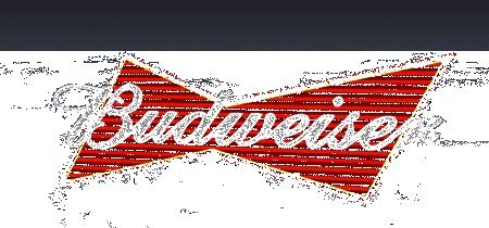 Small Model Budweiser Beer Animated Lighted Sign