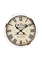Contemporary Home Reloj De Pared Grand Hotel Blanco