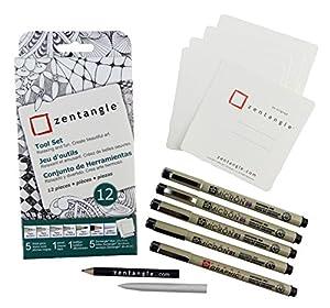 Zentangle Art Set 12pc-White Tiles