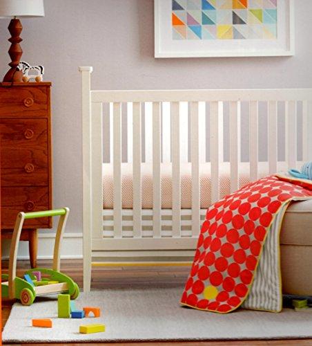 giggleBaby 3 Piece Crib Bedding Set Dot Collection Flame Scarlett