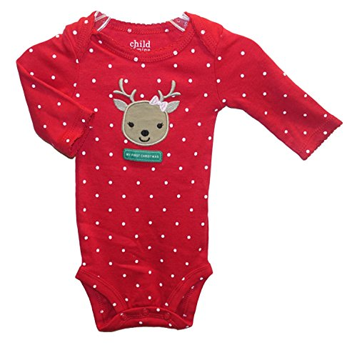 Carter's Baby Girls' Reindeer MY FIRST CHRISTMAS Dress Up Bodysuit Outfit