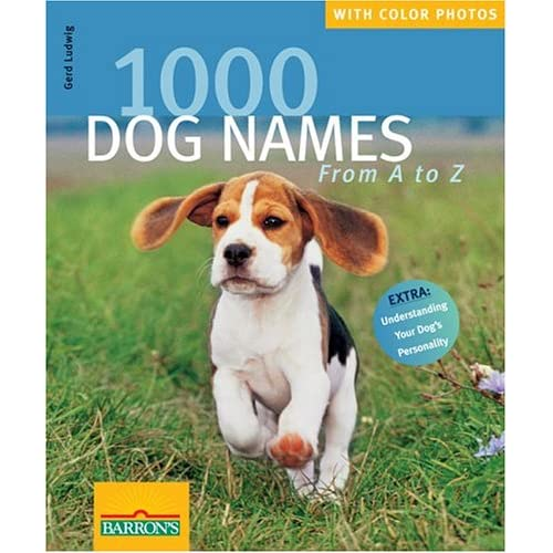 1000 Dog Names Book