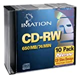 Imation 40955 CD-rw 4X 10PK 74MIN Jewel