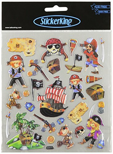 Multi-Colored Stickers-Pirate Boys - 1