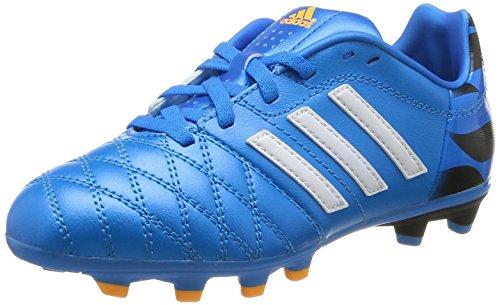 Adidas, 11 Nova Fg J, Scarpe Per Bambini, Unisex - Bambino, Multicolore (Sol Blu/C White/C Black), 35