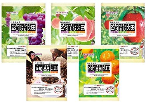 【New】マンナンライフ 蒟蒻畑(こんにゃく畑) 最新人気アソート5種<ぶどう味・白桃味・りんご味・コーヒー味・温州みかん味>× (25g×12個)  合計60個