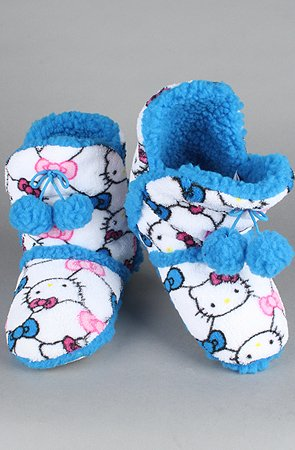 Image of Hello Kitty Intimates The Hello Kitty Super Plush Bootie in Blue,Accessories for Women (B00693BPEM)