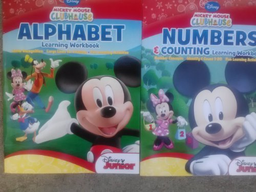 Mickey Mouse Clubhouse Alphabet & Numbers & Counting Workbook 2-Pack - 1